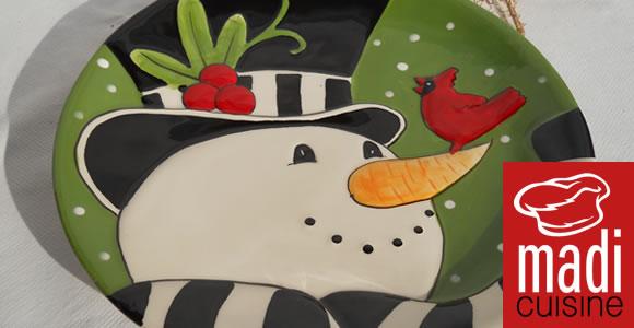 Concurs Facebook! Câştigă de Crăciun un frumos platou ceramic