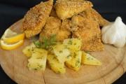 Macrou prăjit cu mălai şi usturoi