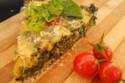 Tartă cu spanac şi brânză