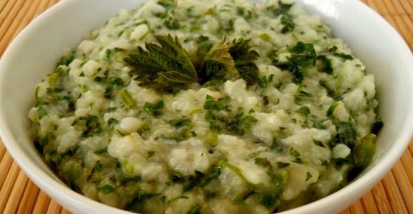 Urzici cu orez şi usturoi