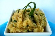 Salată de vinete cu ceapă verde